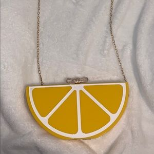 Lemon wedge acrylic bag